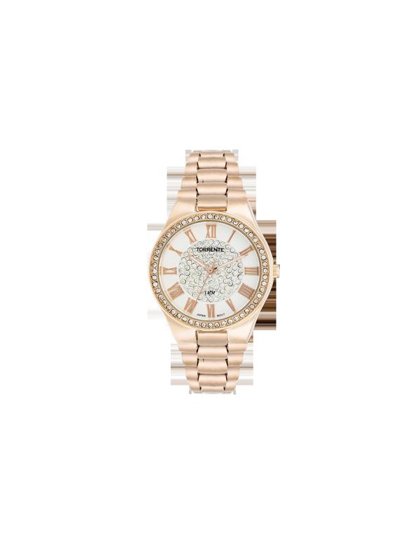 L 39 or de torrente 100ml et montre femme torrente d cor or rose for Montre decoration